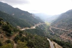 Blick vom Kloster Mega Spileo