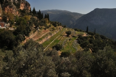 Ausgrabungsstätte in Delphi