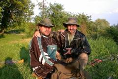 Sascha und Roland beim Angeln