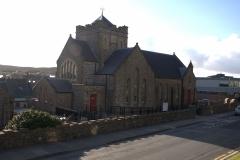 Kirche und Bibliothek in Lerwick
