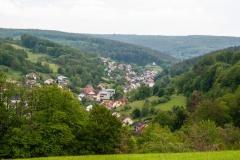 Blick über Mespelbrunn