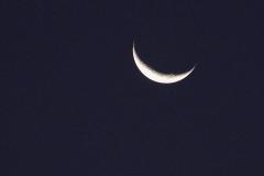 Schöne Mondsichel