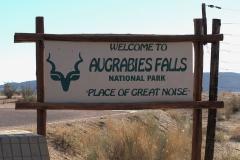 Am Eingang zum Augrabies Falls National Park