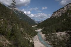 Blick ins Hinterautal, Karwendelgebirge