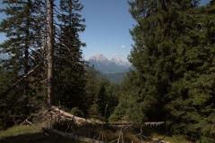 Ausblicke auf dem Weg von Scharnitz zur Oberbrunnalm
