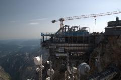 Bau der neuen Seilbahnstation auf der Zugspitze
