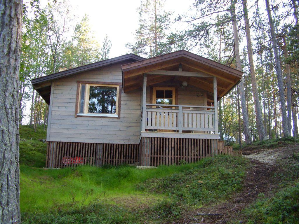 Unsere Unterkunft am Lemmenjoki