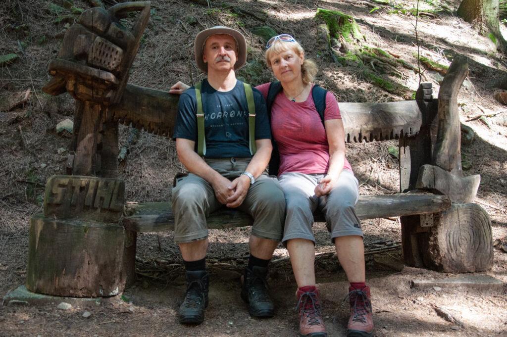 Roland und Petra bei einem Fotostop.